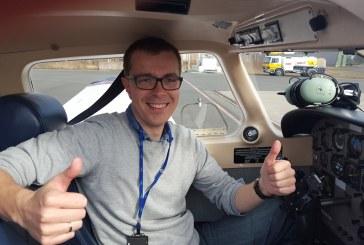 Martin er klubbens ferskeste pilot