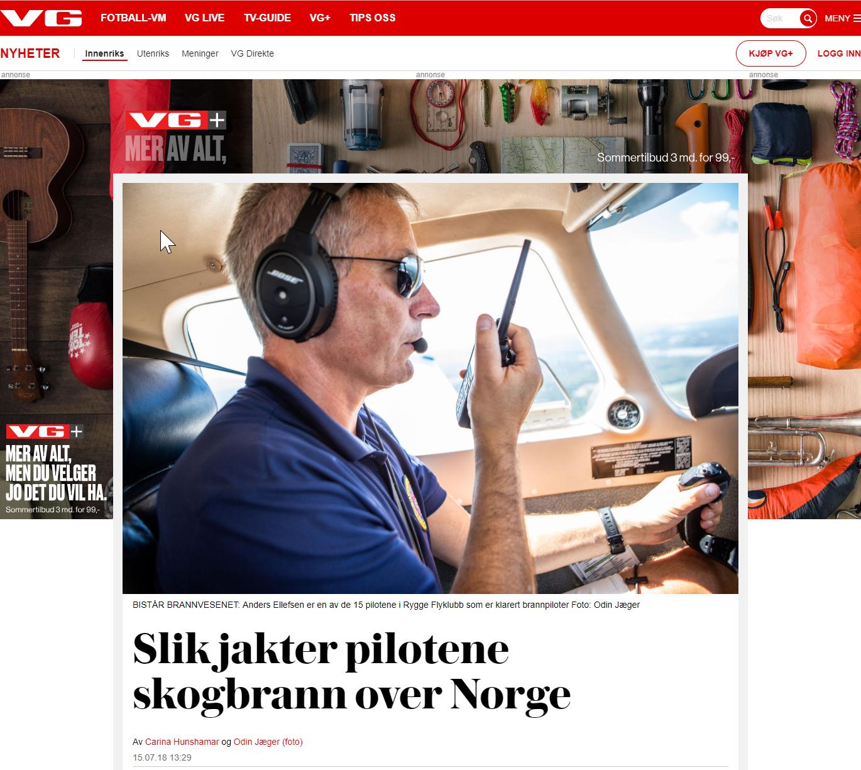 Slik jakter pilotene skogbrann over Norge